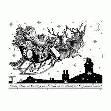 crafty individuals ci 398 u0027santa u0027s sleigh ride u0027 art rubber