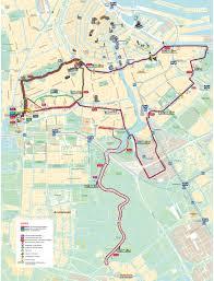 Marathon Route Map by Magazine U0026 Maps Tcs Amsterdam Marathon