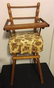 Wooden Doll High Chair Vintage Cass Toys Wooden Doll High Chair Antique Toy Old Dolly