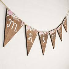 Bunting Flags Wedding Personalised Wooden Bunting Create Gift Love
