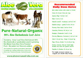 aloe vera powder data sheets www aloeveraaustralia com au