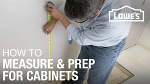 how to install kitchen cabinets prep u0026 measure youtube