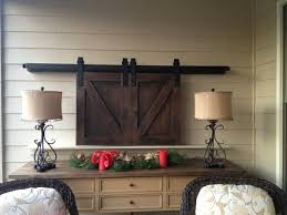 Barn Doors Pinterest by Barn Doors Over Tv Custom Sized And Finished Www