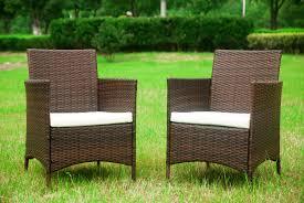 amazon com merax 4 pcs patio rattan furniture set cushioned