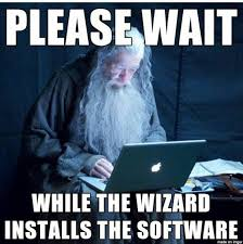 reaction while installing software i m programmer