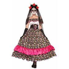 death porcelain doll skull print dress halloween