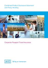 Travel And Expense Policy Sle by Aig Corporate Travel Pds