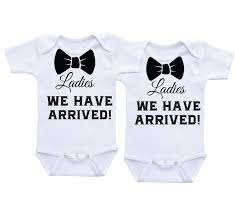 we have arrived twin onesies twin for boy twins baby