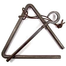 wall mount dinner bell amazon com forged metal triangle chuckwagon dinner bell musical