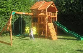 Backyard Swing Set Ideas Leisure Time Cedar Swing Set Highlander Swing Sets For Sale