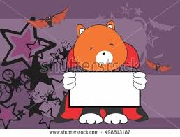 Sweet Fox Halloween Costume Fox Baby Cartoon Expression Vector Stock Vector 255608536