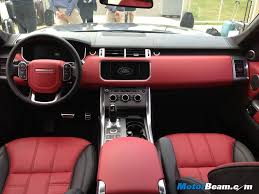 evoque land rover interior range rover red interior hledat googlem auta pinterest red