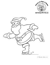 christmas coloring sheet santaclaus santa hohoho