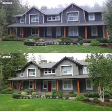 home exterior design consultant the homeowner loved the classic grey and white east coast idea of