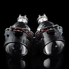 nissan 350z bi xenon headlights amazon com 2 pcs mini bi xenon projector clear lens black shrouds