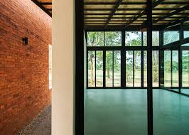 Thailand Home Design Thai House Made From Layers Of Brick Concrete And Glass