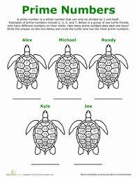 prime number turtles worksheet education com