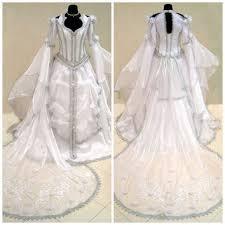 medieval wedding dress silver gothic from astrastarl on etsy