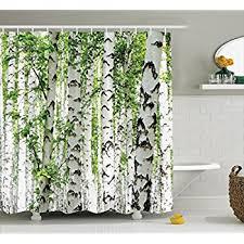 Amazon Com Shower Curtains - birch tree shower curtain curtains wall decor