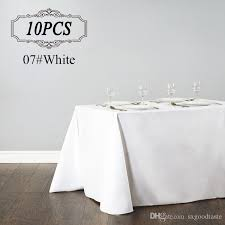 party table covers rectangular table cloth polyester seamless wedding party table