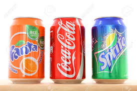 Coca Cola Six Flags Promotion Warsaw Poland May 20 Fanta Coca Cola And Sprite Drinks On