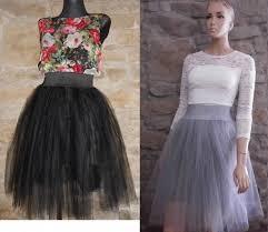 spodnica tiulowa spódnica tiulowa szara czarna w spódnice szafa pl