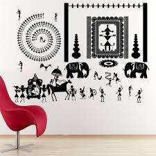 Warli Art Simple Designs Ritualistic Warli Tribal Wall Decal Model Kc1495 Condition New A