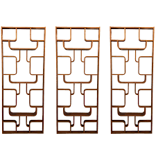 wall dividers set of three wooden wall dividers by ludvik volak at 1stdibs