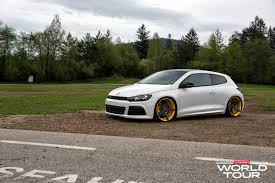 stanced cars drawing vw scirocco r slammed on vossen wheels autoevolution