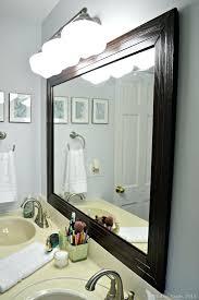 how to frame a bathroom mirror with molding bathroom mirror molding bathroom mirror white frame diy bathroom
