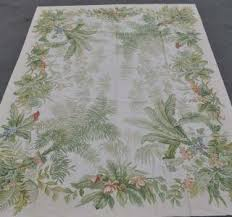 Palm Tree Area Rugs Victorian Rose Trim Accent Rugs Round Rug Floral Flowers Bedroom