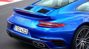 Sapphire Blue Porsche 911 Turbo Sapphire Blue Metallic Exterior Design Youtube