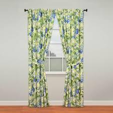 Blue Floral Curtains Waverly Floral Flourish Curtain Pair Blue Green Floral 84