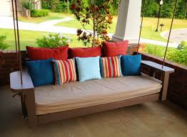 outdoor floating bed diy hanging bed plans outdoor floating daybed porch swing patio