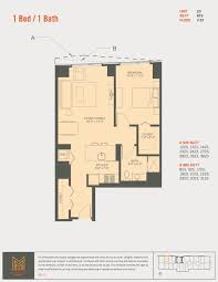Luxury Apartment Floor Plan by One Bedroom Luxury Apartment In Downtown Chicago