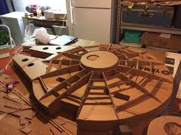 Millennium Falcon Floor Plan by Star Wars Fan Creates 5 Foot Cardboard Millennium Falcon The