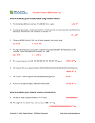 multiplying and dividing scientific notation worksheet scientific notation worksheets