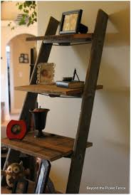 Leaning Ladder Shelf Plans Ladder Shelf In Bathroom Diy Ladder Shelf Plans Book Shelf Ladder