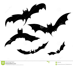 Bat For Halloween Flying Bats Stock Vector Image 59606482
