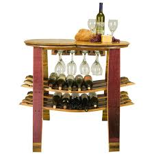 home decor hanging wine rack with glass holder with solid wood