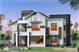 beautiful 2500 sq feet sloping roof villa house design plans