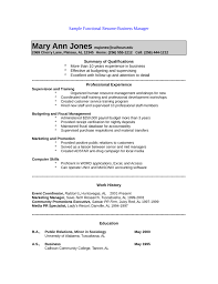 Public Relations Resume Example by Functional Public Relations Manager Resume Template
