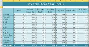 Spreadsheet For Sales Tracking by Excel Spreadsheet For Etsy Shop Track Inventory Sales And Costs