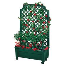 amazon com exaco trading 1 416green calypso planter with trellis