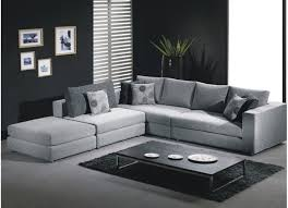 White Fabric Sectional Sofa by Silver Color Fabric Sectional Sofa Living Room Pinterest