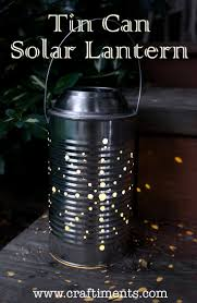 learn how to make a recycled tin can lantern powered by a solar