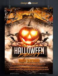 flyer templates graphicriver halloween party flyer template
