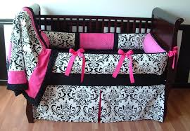 Girls Pink And Black Bedding by Bedroom Design Black And White Flowers Crib Blanket Design With