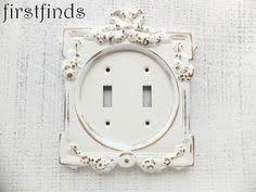 Shabby Chic Light Switch Covers by Light Switch Cover Plate Double Asian Design Distressed White