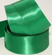 green satin ribbon emerald grass green col 770 100mm sash single faced satin